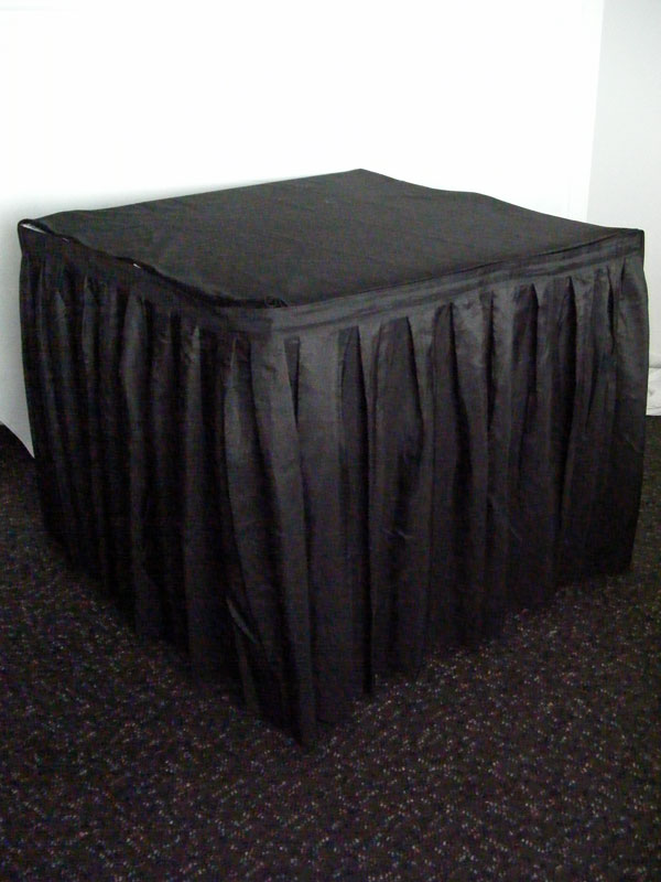Table Skirt - Black